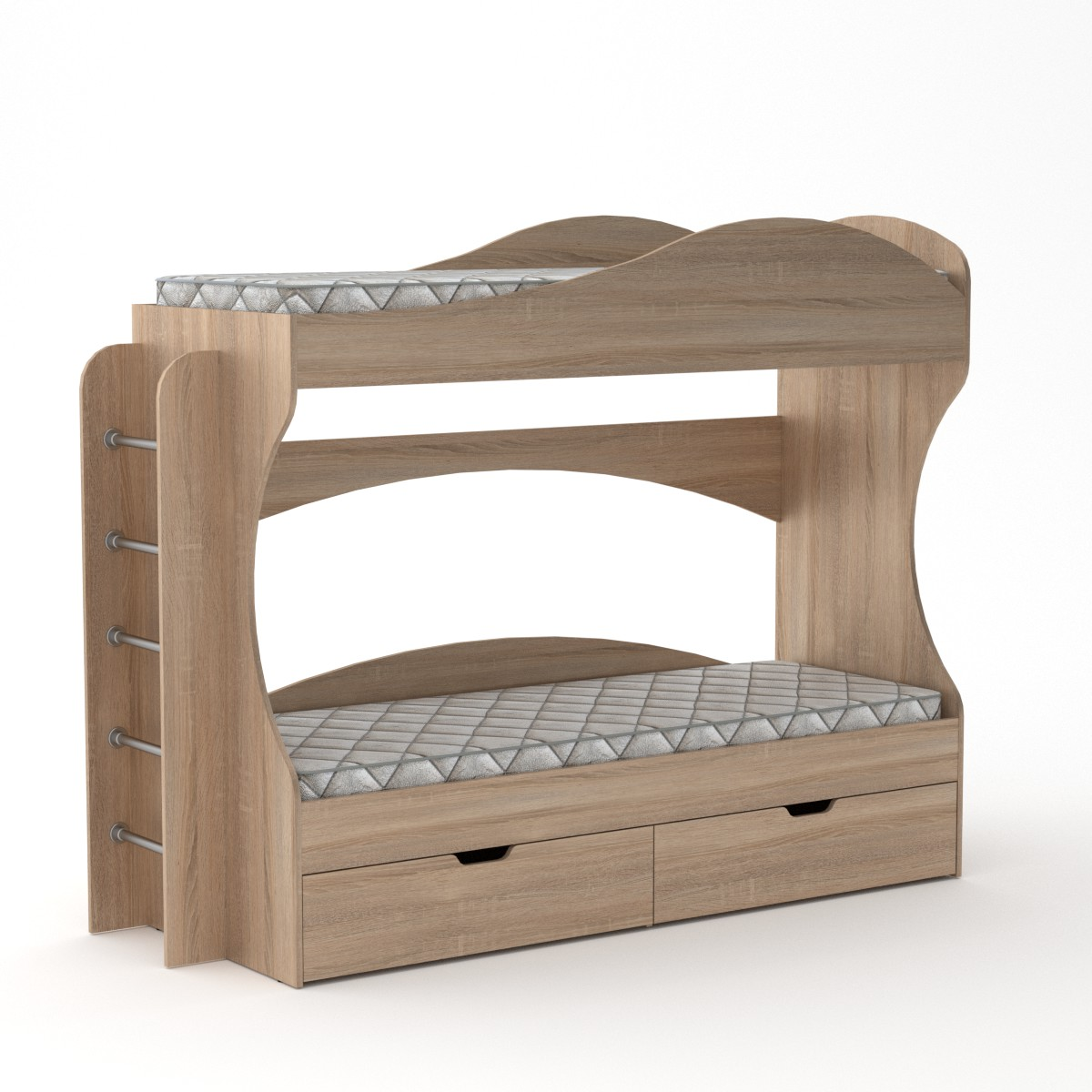 Двухъярусная кровать Бриз цвет дуб сонома