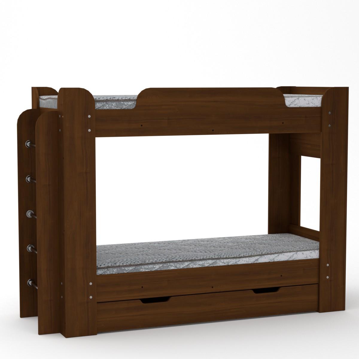 Двухъярусная кровать Твикс цвет орех экко