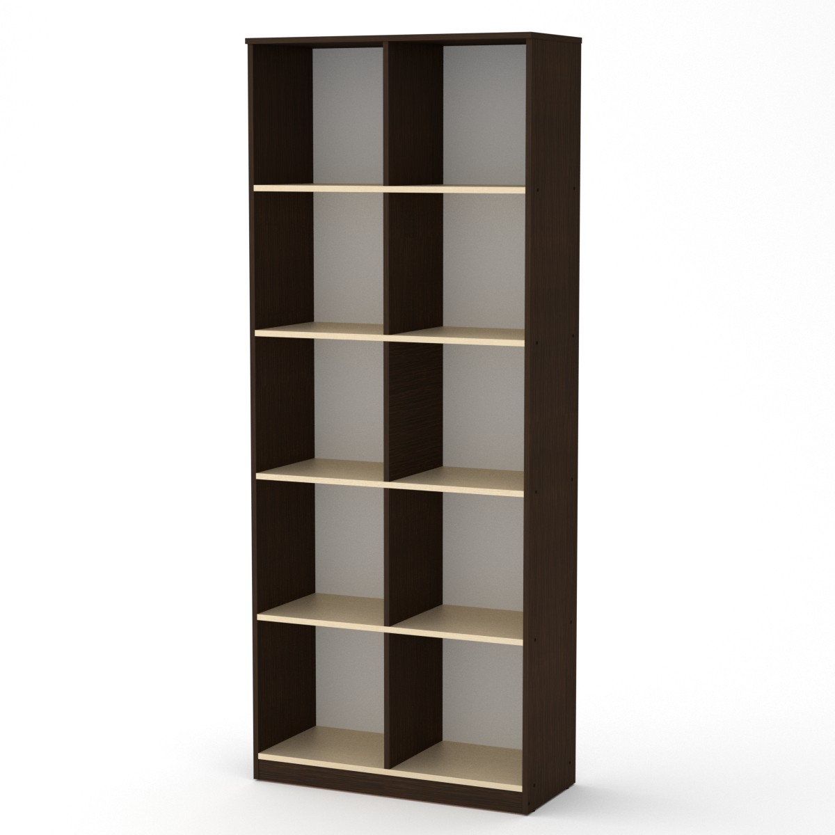 Шкаф книжный КШ-2, цвет венге комбин