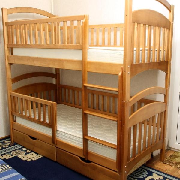 Двухъярусная кровать Карина Люкс, цвет ольха