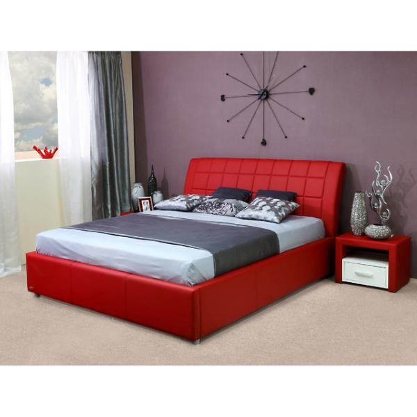 Кровать Амур, цвет красный
