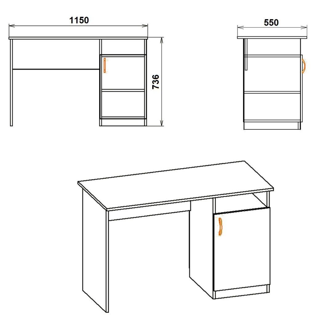 Как сделать стол с тумбочкой 42