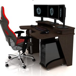 Геймерский игровой стол zeus igrok-4 мебель всем.