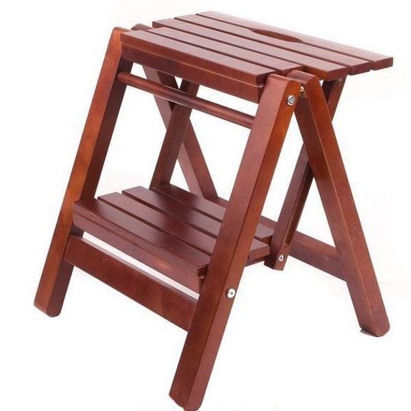 Лестница маленькая, цвет орех
