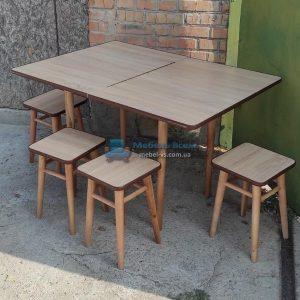 Обеденный комплект Стол + 4 табурета