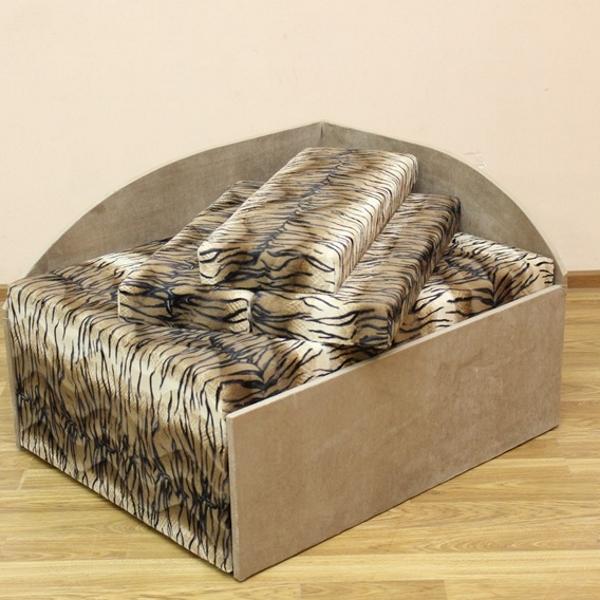Кубик диван в ткани лео 34 и элиша 08. Акция