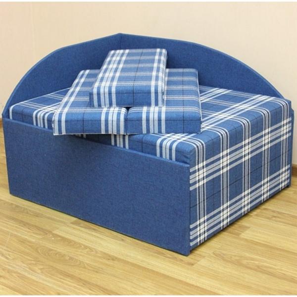 Кубик, диван в ткани шотландия 5а и 5б. Акция