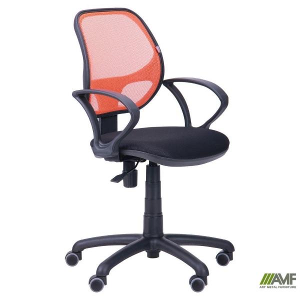 Офисное кресло Байт (спинка сетка оранж.)