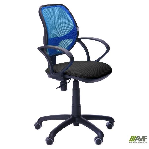 Офисное кресло Байт (спинка сетка синяя)