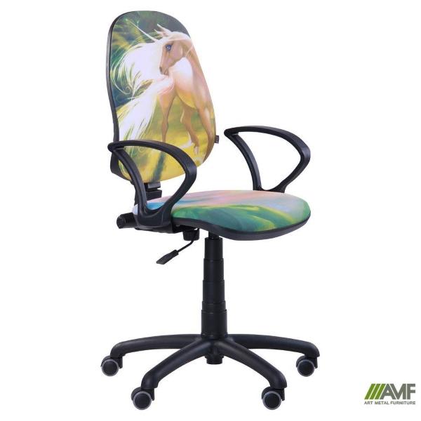 Детское компьютерное Кресло Поло 50/АМФ-4 Дизайн №13 Единорог