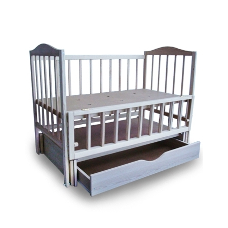 Детская кроватка-колыбель с механизмом качания и ящиком S-5
