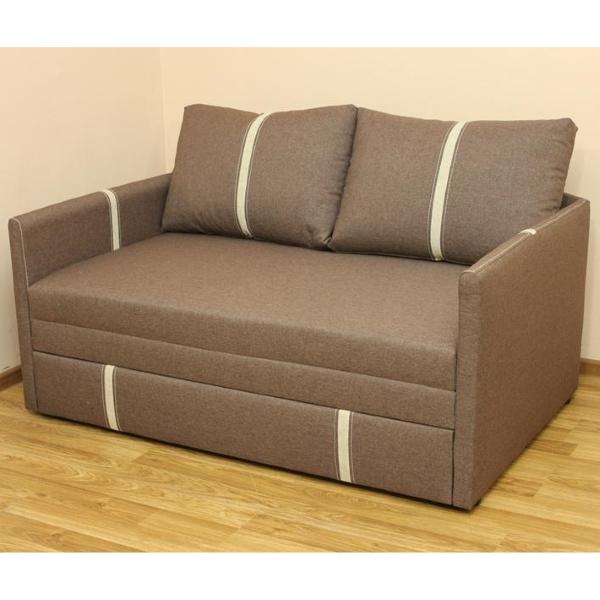 Орфей, диван в ткани саванна люкс браун и однотон. Акция
