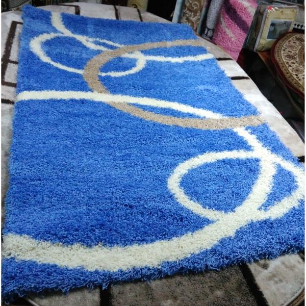 Ковер Shaggy 1,5x2,3м 8018 BLUE