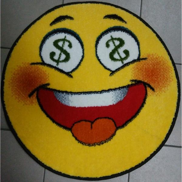 Ковер смайл круглый Доллар 11083-150