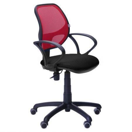Офисное кресло Байт (спинка сетка красная) АМФ4