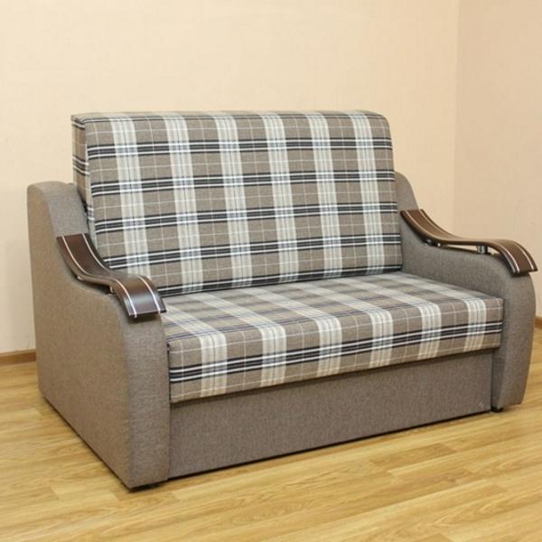 Диван Адель 1,2, диван в ткани шотландия кофе и однотон