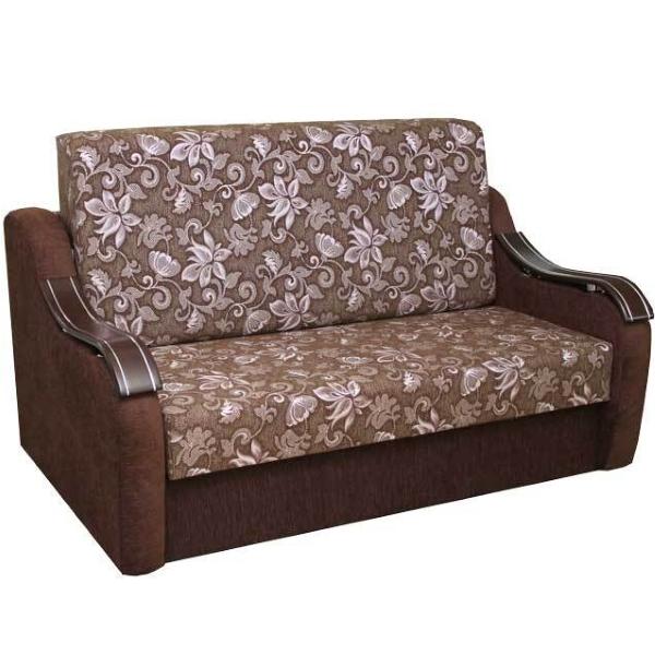 Диван Адель 1,4, диван в ткани соул сирень и артемик шоко