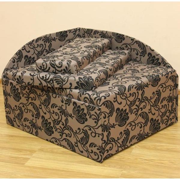Кубик, диван в ткани нео флок капучино. 1-я категория