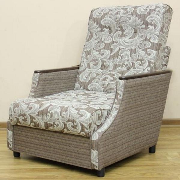 Малютка, кресло-кровать в ткани салют браун и однотон. 1-я категория