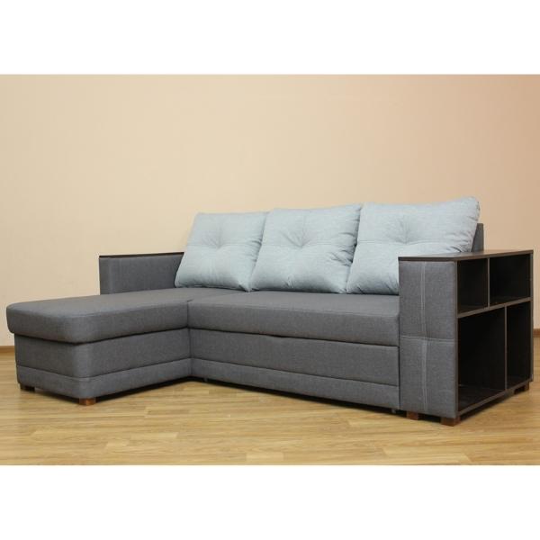 Ника, угловой диван в ткани лизбон 412юм11 и саванна дк грей. 1-я категория