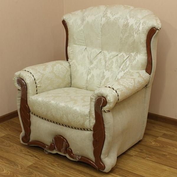 Роксана, кресло в ткани урал 352 и однотон. 1-я категория