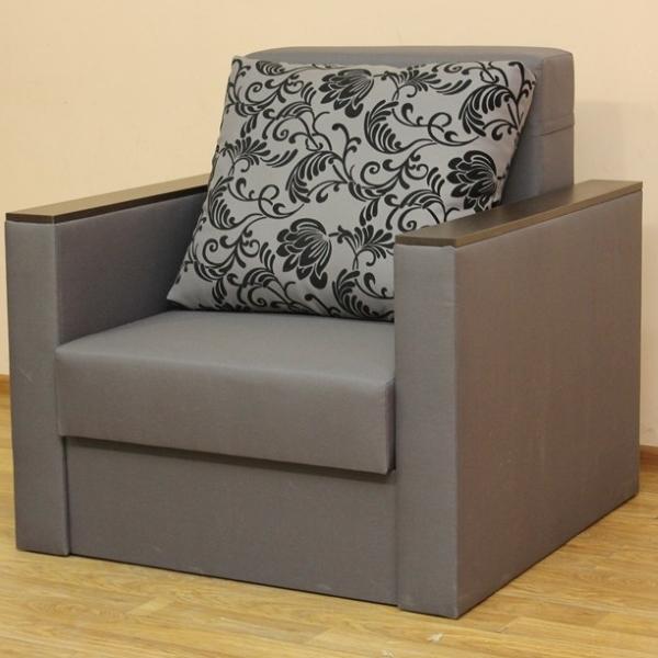 Сафари, кресло-кровать в ткани нео флок грей и нео грей. 1-я категория