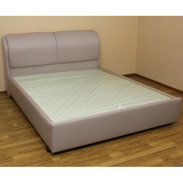 Афина, кровать в ткани глоси дасти роуз. 1-я категория. Газлифт