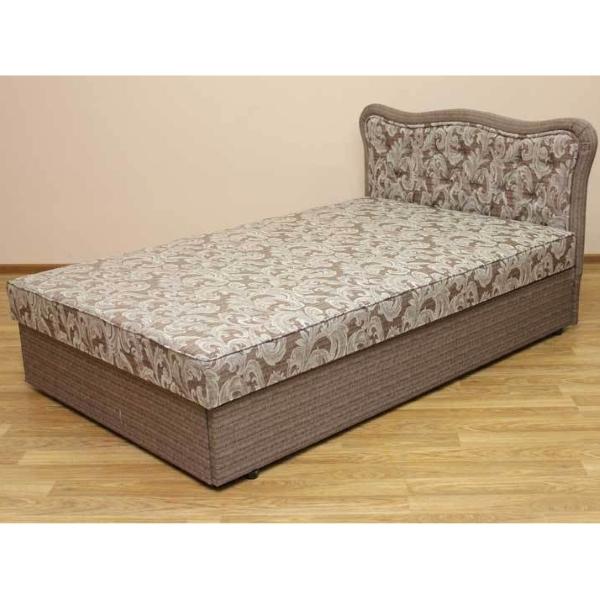 Кровать Ева 1,2 в ткани салют браун и однотон. 1-я категория
