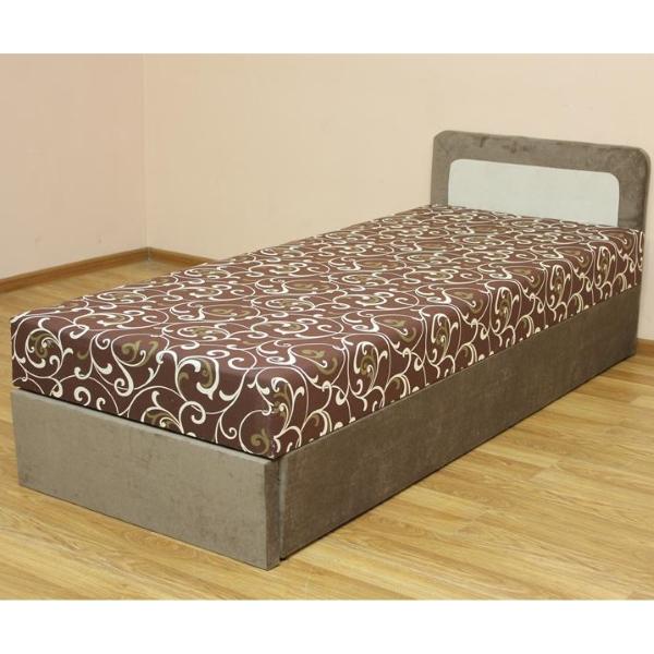 Кровать 08 блок, в ткани в ткани эльдорадо крем и витал шоко. 1-я категория