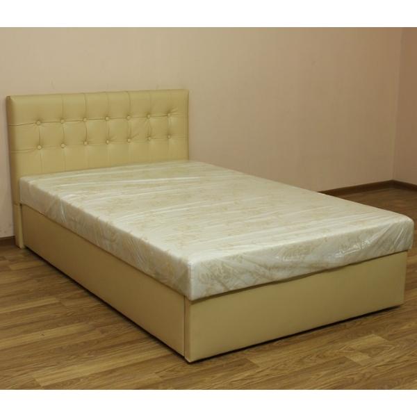 Белла 120, кровать в ткани браска беж. 1-я категория