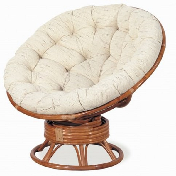 Кресло-качалка Папасан, цвет коньяк