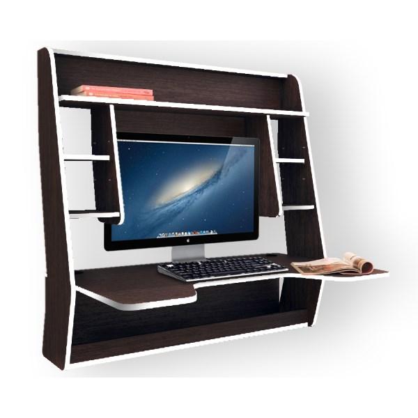 Геймерский навесной стол ZEUS IGROK-MAX (венге/белый)
