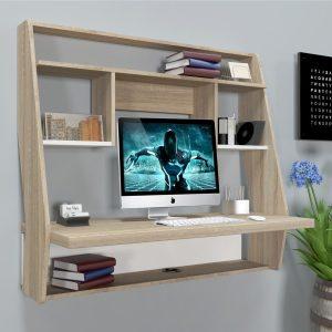 Навесной компьютерный стол ZEUS™ AirTable-III SW (сонома/белый)