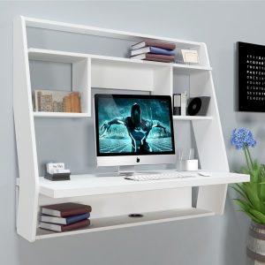 Навесной компьютерный стол ZEUS™ AirTable-III WT (белый)
