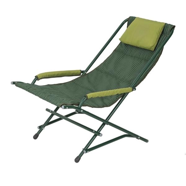 Кресло Алиса Двусторонняя, Зеленый олефин + Дралон вертикальная полоса (2140020)