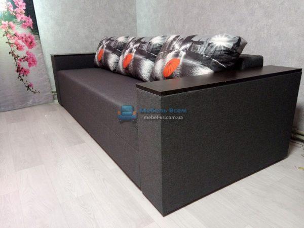 Диван Бостон dk.Grey14(тёмно-серый)/подушки зонтик (Складская позиция)