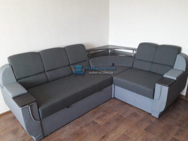 Угловой диван Меркурий фото grey 14/silver 20