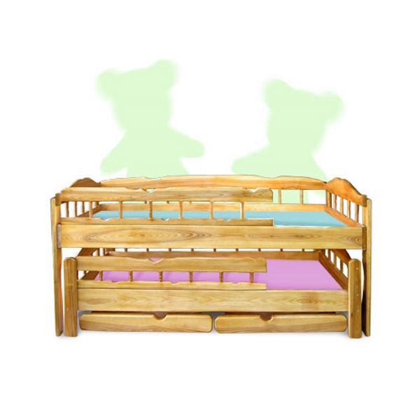 Двухъярусная кровать Трембита, цвет натуральный