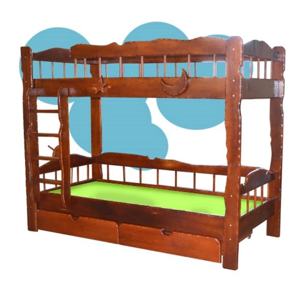 Двухъярусная кровать Старый Корабль, цвет орех