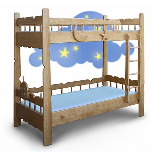 Кровать двухъярусная Врунгель, цвет натуральный
