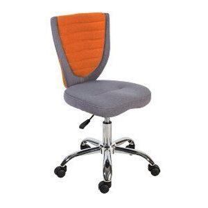 Компьютерное кресло POPPY, серо-оранжевое