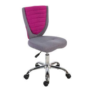 Компьютерное кресло POPPY, серо-розовое