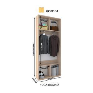 2-х дверный шкаф-купе Оскар Лайт ОЛ104
