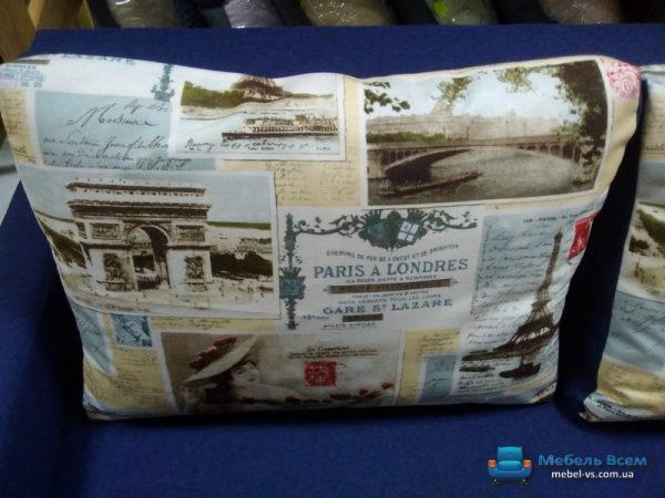 Угловой диван Арни (подушки принт)