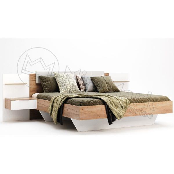 Кровать Asti 1,6 с тумбами и каркасом (AS-36-WB)