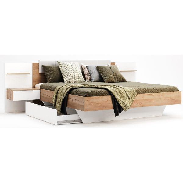 Кровать Asti 1,6 с тумбами, каркасом и ящиками (AS-37-WB)