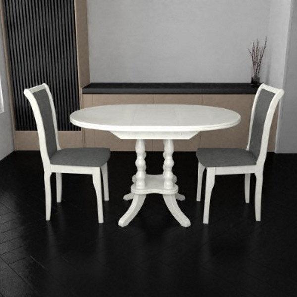 Стол обеденный Париж (цвет белый)