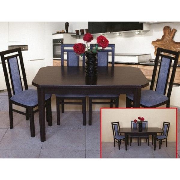 Стол обеденный Модерн (цвет орех тёмный)