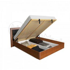 Двухспальная кровать Белла 160x200 BL-47-BL мягкая спинка, подъемная (с каркасом)