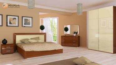 Спальня Белла Миромарк Глянец ваниль-вишня бюзум